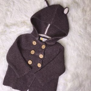 Baby Boden animal ear sweater